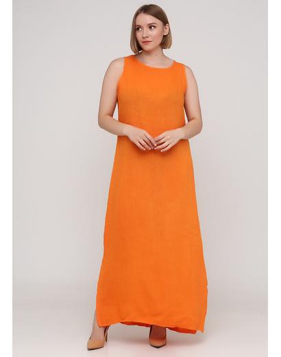 Помаранчева кежуал сукня а-силует Made in Italy однотонна