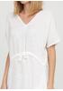 Белое кэжуал платье оверсайз Made in Italy однотонное