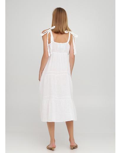 Белое кэжуал платье клеш New Collection однотонное