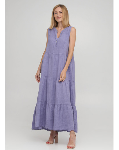 Светло-фиолетовое кэжуал платье а-силуэт Made in Italy однотонное
