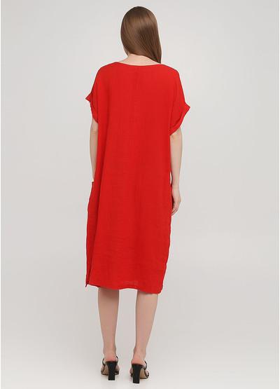 Красное кэжуал платье оверсайз Made in Italy однотонное