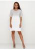 Светло-серое повседневное платье Beauty Women однотонное