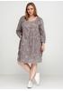 Темно-бежевое платье с длинным рукавом New Collection однотонное