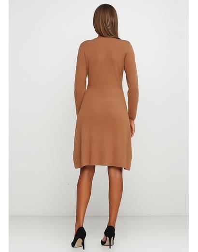 Темно-бежевое повседневное платье а-силуэт Finery однотонное