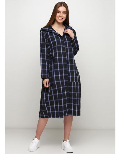 Темно-синее платье рубашка Normcore firenze в клетку