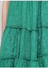 Сарафан Made in Italy а-силует однотонний зелений кежуал льон