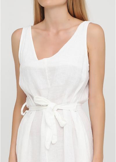 Белое кэжуал платье а-силуэт Made in Italy однотонное