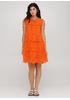 Оранжевое кэжуал платье а-силуэт Onlys однотонное