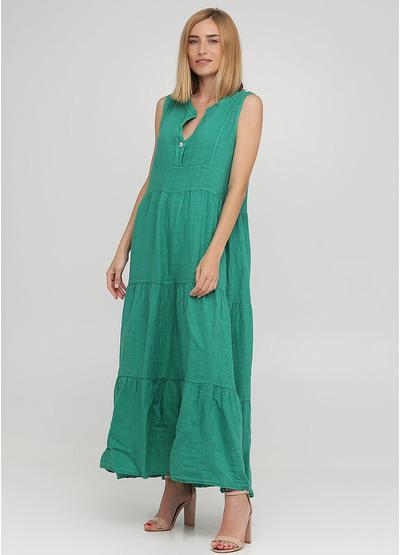 Зеленое кэжуал платье клеш Made in Italy однотонное