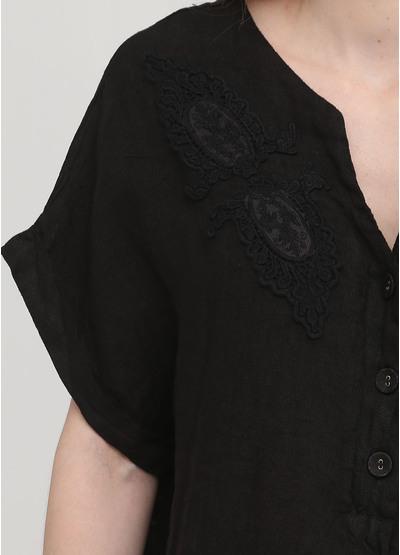 Черное кэжуал платье оверсайз Made in Italy однотонное