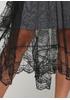 Серое повседневное платье а-силуэт Beauty Women с цветочным принтом
