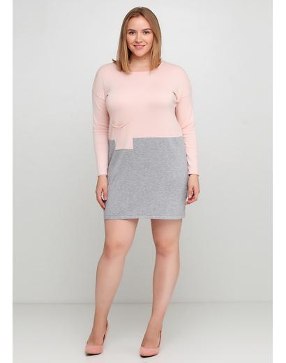 Светло-розовое платье футляр Finery меланжевое