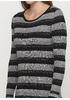 Графитовое платье футляр Melody в полоску
