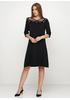 Черное повседневное платье а-силуэт Beauty Women однотонное