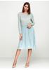 Голубое платье миди Melody Maker однотонное