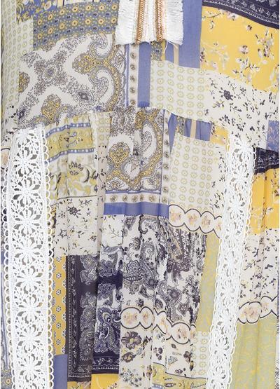 Комбинированное платье Miho's с орнаментом
