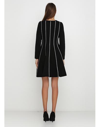 Черное повседневное платье клеш Finery в полоску