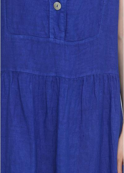 Синее кэжуал платье клеш Made in Italy однотонное