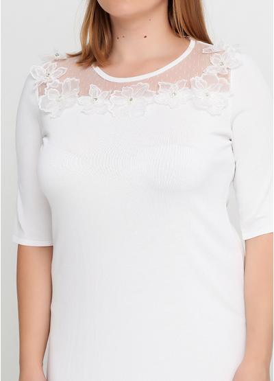 Белое повседневное платье футляр Beauty Women однотонное