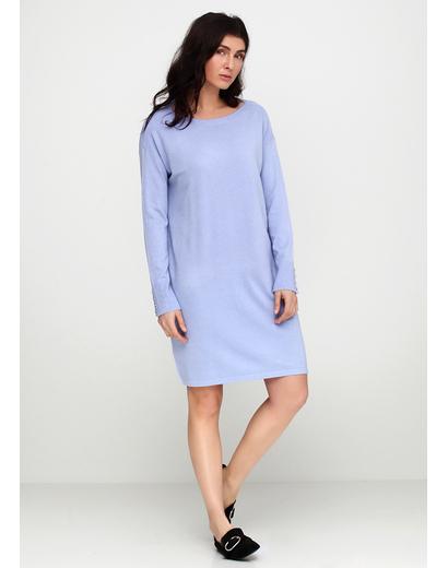 Голубое платье короткое E-Woman однотонное
