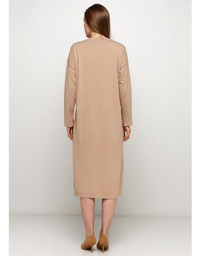 Бежевое платье Normcore firenze однотонное
