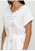 Белое платье клеш New Collection с надписью