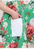Зелена кежуал сукня оверсайз, балон 159 С з квітковим принтом