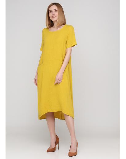 Гірчична кежуал сукня а-силует Made in Italy однотонна