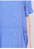 Синя кежуал сукня а-силует Made in Italy однотонна