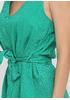 Зеленое кэжуал платье а-силуэт Made in Italy однотонное