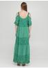 Зеленое кэжуал платье а-силуэт Onlys однотонное