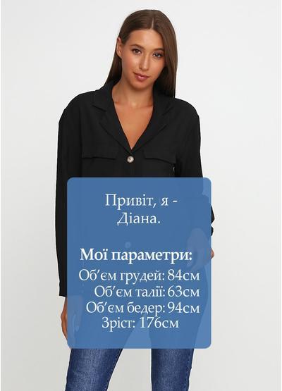 Черная рубашка однотонная Miho's
