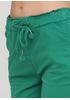 Шорты Moda Italia однотонные зелёные кэжуалы хлопок