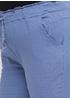Бриджи Moda Italia однотонные синие кэжуалы хлопок