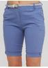 Шорты Moda Italia однотонные светло-синие кэжуалы хлопок