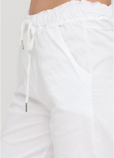 Шорты Moda Italia однотонные белые кэжуалы хлопок