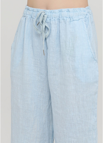 Шорты Made in Italy бермуды меланжи светло-голубые кэжуалы лен