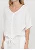 Костюм (блуза, юбка) Made in Italy юбочный однотонный белый кэжуал лен