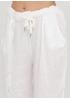 Костюм (блуза, брюки) Made in Italy брючный однотонный белый кэжуал лен