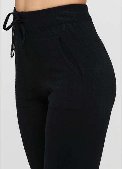 Черный демисезонный повседневный костюм C`est Monique однотонный
