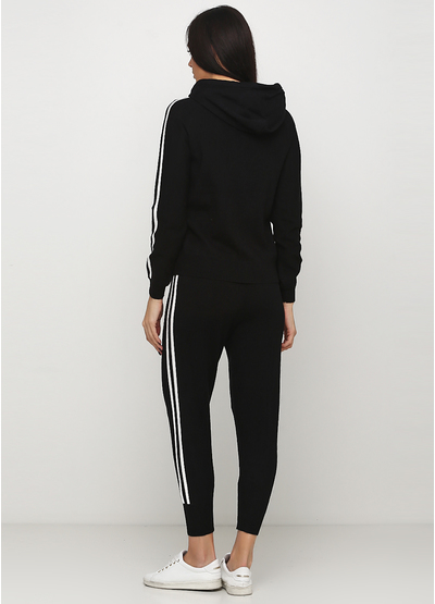 Черный демисезонный повседневный костюм Max long fashion однотонный