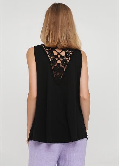 Черная летняя блуза New Collection