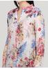 Туніка New Collection квіткова світло-рожева кежуал бавовна