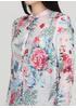 Туніка New Collection квіткова світло блакитна кежуал бавовна