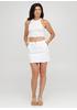 Белая кэжуал однотонная юбка Moda Italia