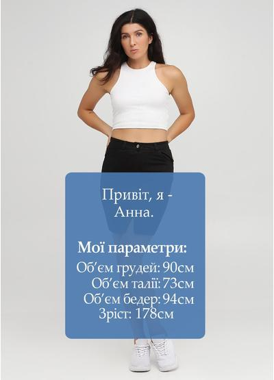 Черная кэжуал однотонная юбка Moda Italia