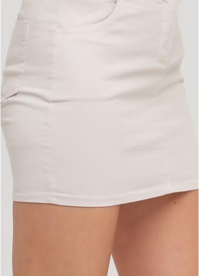 Бежевая кэжуал однотонная юбка Moda Italia