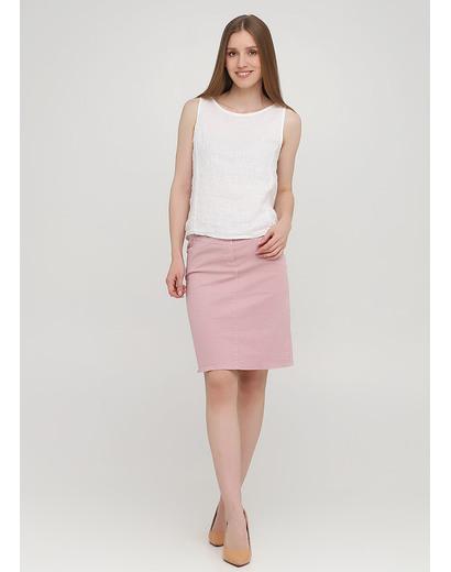 Пудровая кэжуал однотонная юбка Moda Italia
