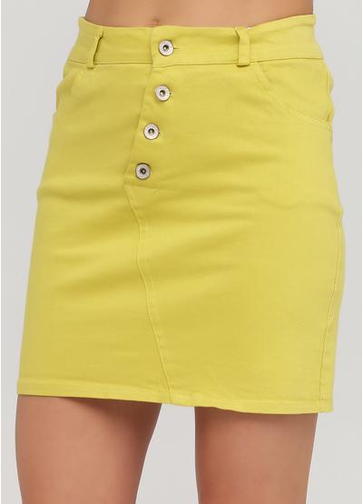Лаймовая кэжуал однотонная юбка Moda Italia