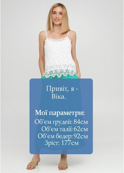 Зеленая кэжуал однотонная юбка Made in Italy а-силуэта (трапеция)
